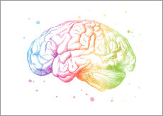 Wall Sticker  Rainbow brain - Mod Pop Deco