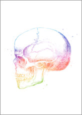 Gallery Print  Rainbow Skull - Mod Pop Deco