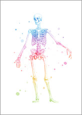 Wall sticker  Rainbow skeleton - Mod Pop Deco
