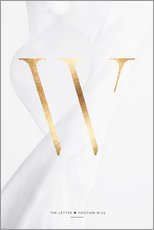 Gallery print  GOLD LETTER COLLECTION W - Stephanie Wünsche