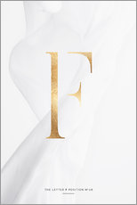 Gallery print  GOLD LETTER COLLECTION F - Stephanie Wünsche