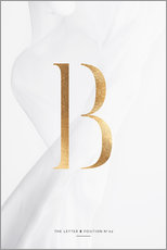 Gallery print  GOLD LETTER COLLECTION B - Stephanie Wünsche