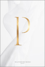 Gallery Print  GOLD LETTER COLLECTION P - Stephanie Wünsche