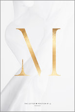 Gallery print  GOLD LETTER COLLECTION M - Stephanie Wünsche