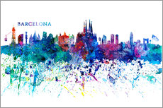 Wall sticker  Skyline of Barcelona - M. Bleichner