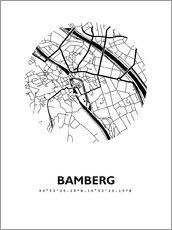 Wall sticker  City map of Bamberg - 44spaces