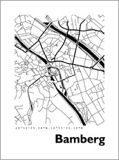 44spaces - City map of Bamberg
