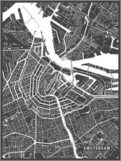 Main Street Maps - Amsterdam Netherlands Map