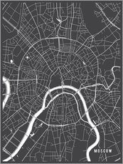 Gallery Print  Moscow Russia Map - Main Street Maps
