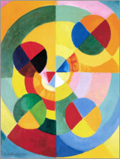 Wood print  Rhythm, joy of life (detail) - Robert Delaunay