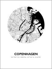 Wall Stickers  City map of Copenhagen - 44spaces