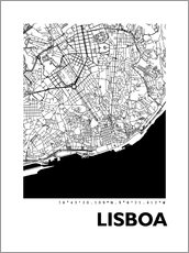 Wall sticker  City map of Lisbon - 44spaces