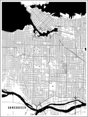 Wall sticker  Vancouver Canada Map - Main Street Maps