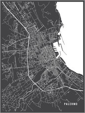 Gallery print  Palermo Italy Map - Main Street Maps