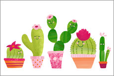 Wall sticker Cactuses in the pot