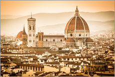 Wall sticker Cityscape with Cathedral and Brunelleschi Dome, Florence