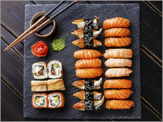Wall Stickers  Sushi set on black slate - TPP