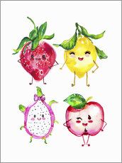 Wall Stickers  Naughty fruits - Ikon Images