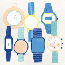 Wall sticker  Collection of wristwatches - Ikon Images