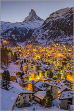 Gallery print  Zermatt with Matterhorn - John Warburton-Lee