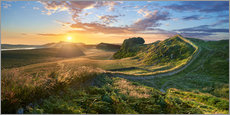 Gallery Print  Hadrians Wall near Houseteads Roman Fort - age fotostock