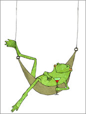 Wall Stickers  Lazy frog
