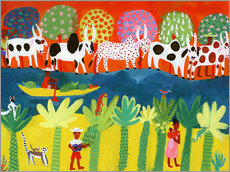Wall sticker  Herd of cows on the Nile - Ikon Images