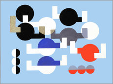 Gallery print  Composition of Circles and Overlapping Angles - Sophie Taeuber-Arp