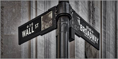 Wall sticker  NYC Wall Street And Broadway Sign-New York City's Broadway Canyon of Heroes and Wall Street Sign. - age fotostock