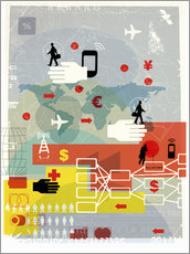 Gallery print  Global communication, finance and travel - Ikon Images
