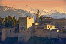 Wall sticker Sierra Nevada and the Alhambra at sunset