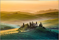 Gallery print  A lonely farm with cypresses and olive trees - Click Alps