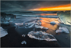 Gallery print  Ice chunks in the glacier lagoon - Arnold Schaffer