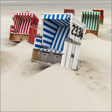 Gallery Print  Beach chairs on Ostfriesland - Roland T. Frank