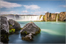 Wall sticker  Godafoss, the waterfall of the gods - Click Alps