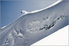 Gallery print  Freeriding snowboarder on a snowy slope - Dean Blotto Gray