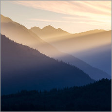 Gallery print  Evening light in the mountains - Don Paulson