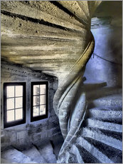 Gallery print  Stairs in the Chateau de Lourmarin - Julie Eggers