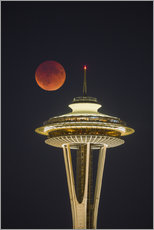 Gallery print  Bloodmoon over Seattle - Gary Luhm