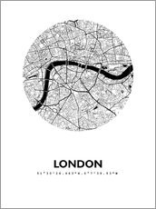 Wall sticker  City map of London - 44spaces