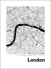 Gallery print  City map of London - 44spaces