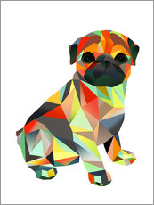 Gallery print  Molly Pug 2 - Miss Coopers Lounge