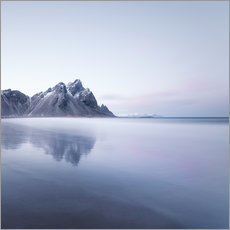 Wall sticker Vestrahorn in Iceland at sunset