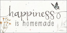 Wall sticker Happiness is homemade (English)