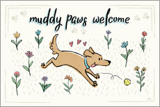 Wall Stickers  Dogs in the Garden I - Janelle Penner