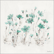 Wall sticker  Wildflowers in turquoise - Lisa Audit
