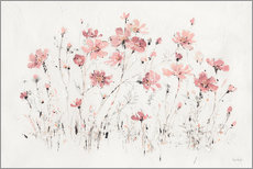 Wall Stickers  Wildflowers I Pink - Lisa Audit