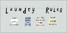 Wall sticker  Laundry Rules I (English) - Sue Schlabach