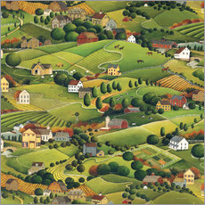 Gallery print  Enchanting village landscape - David Carter Brown