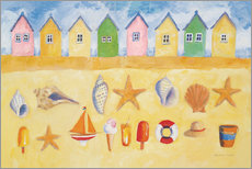 Wall sticker  Beach huts - Michael Clark